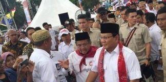 Prabowo Subianto hadiri kampanye Anies-Uno