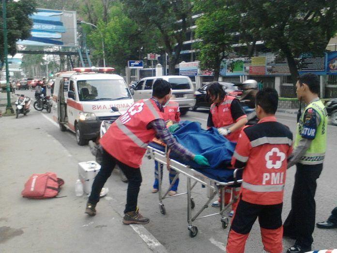 Korban saat dievakuasi ke Rumah Sakit Pirngadi Medan