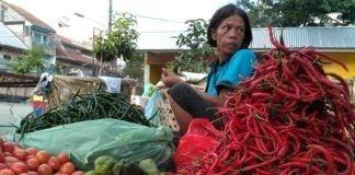 Pedagang di Pasar Sambu Medan