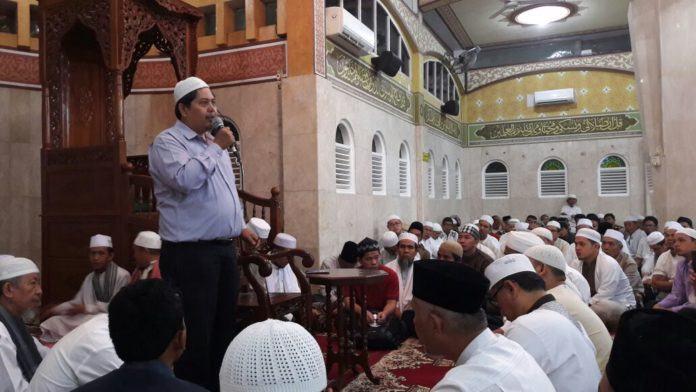 Koordinator GAPAI Sumut, Drg. M. Sahbana dalam kegiatan Subuh Berjamaah Nasional