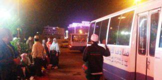KUHI KJRI/Jemaah umrah Indonesia bersiap menuju bandara di Jeddah untuk pulang ke Tanah Air