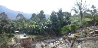 jalan alternatif dari Desa Sibio-bio Jae ke Huta Ginjang. jembatannya ambruk