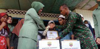 TNI Kodam I/BB Beri Santunan Kepada Keluarga Korban