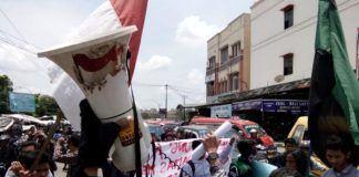 Badko HMI Sumut gelar unjuk rasa