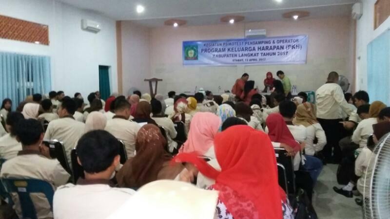 Dinas Sosial Dan PKH Kabupaten Langkat, Lakukan Psikotes