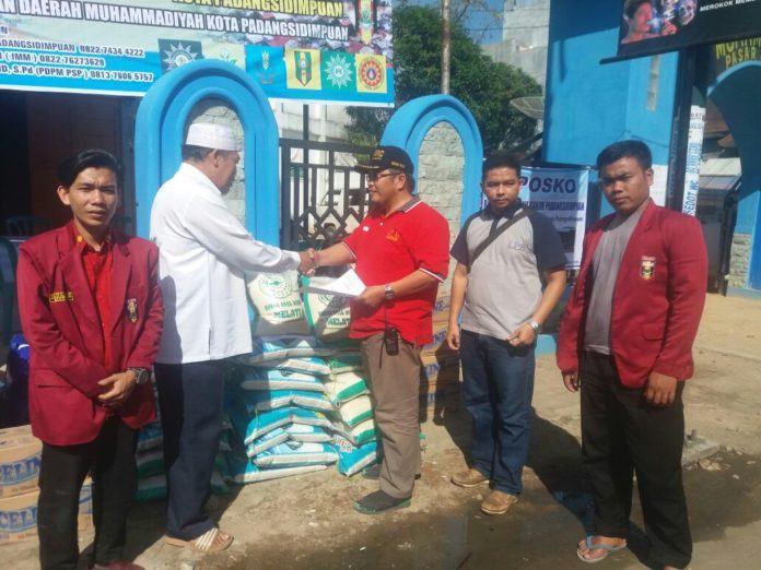Peduli Korban Banjir, Muhammadiyah Padang Sidempuan Buka Posko Bantuan