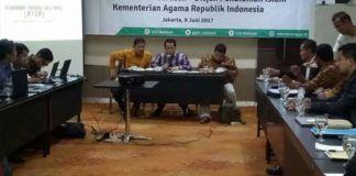 Foto: Dirjen Pendidikan Islam Kamaruddin Amin bersama Wakil Ketua dan Sekretaris Koordinatorat Perguruan Tinggi Agama Islam Swasta (KOPERTAIS) se-Indonesia di Jakarta, Kamis (8/6).