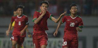 Foto: Timnas Indonesia U-16 bermain imbang 1-1 melawan Vietnam di Stadion Hoa Xuan, Da Nang, Vietnam, Jumat (16/6).