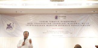 Foto: Dirjen Penguatan Inovasi Kemenristek dan Dikti menyampaikan paparan dalam forum Bakohumas di Hotel Oria, Jakarta, Rabu (12/7).