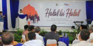 Foto: Walikota Medan Drs H T Dzulmi Eldin S M.Si menghadiri Halal Bi Halal Fakultas Ilmu Sosial dan Ilmu Politik Universitas Sumatera Utara (USU), di Gedung Serba Guna FISIP USU, Senin (24/7).
