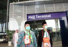 Foto: Jemaah MES 01 tiba di Terminal Haji Bandara AMAA Madinah, Jumat (28/7).