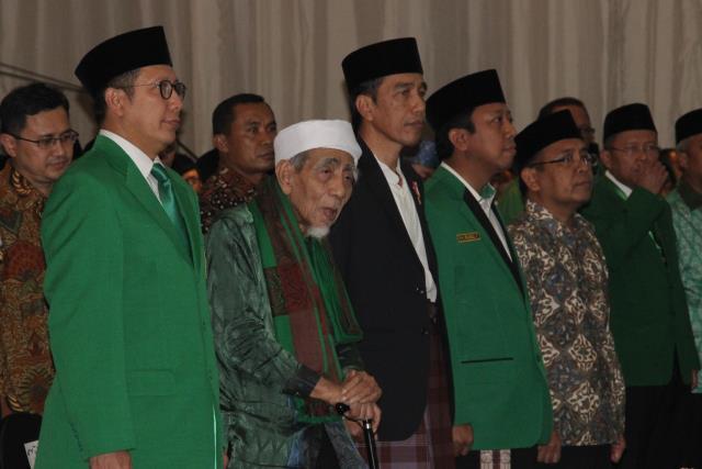 Foto: Presiden Jokowi saat menghadiri Penutupan Mukernas II dan Workshop Nasional anggota DPRD PPP se Indonesia di Hotel Mercure, Ancol, Jakarta, (21/7).