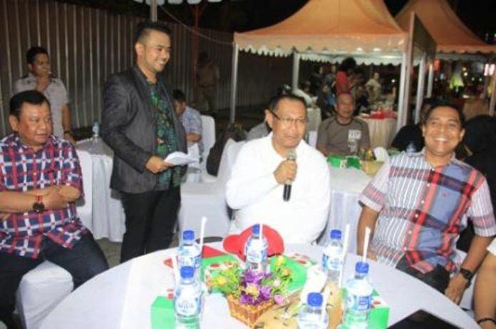 Foto: Wakil Walikota Medan Ir Akhyar Nasution pada kegiatan malam Panggung Seni Budaya Kota Medan di seputaran Jalan Pulau Penang, Medan.