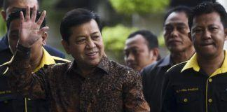 Ketua DPR sekaligus Ketua Umum Partai Golkar Setya Novanto resmi menjadi tersangka dalam kasus korupsi e-KTP. (ANTARA FOTO/Hafidz Mubarak A)