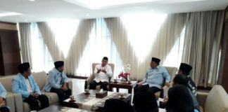 Foto: Menag Lukman terima pengurus BPKRMI, di Jakarta, Rabu (2/8).