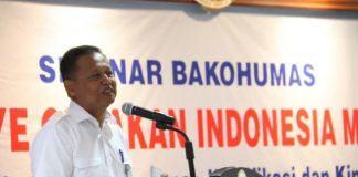 Foto: Sekretaris Kementerian PANRB Dwi Wahyu Atmaji mewakili Menteri PANRB membuka Seminar Bakohumas Pusat di Kemenetrian PANRB, Rabu (9/8).