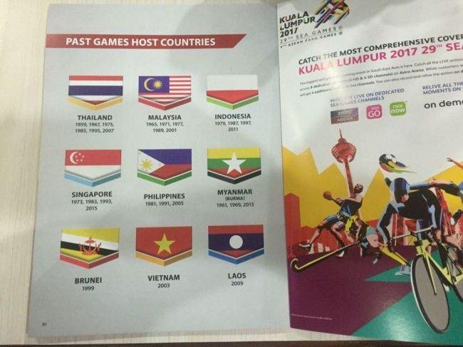 Foto bendera Indonesia terbalik. (Dok. Kemenpora)
