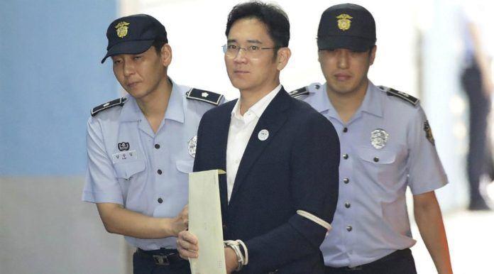 Bos Samsung Lee Jae-young menerima hukuman 5 tahun penjara setelah terbukti melakukan penyuapan. (Chung Sung-Jun/Pool Photo via AP)