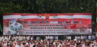 Foto: Murojaah dan Doa Bersama, di Lapangan Benteng Medan, Kamis (17/8) petang.