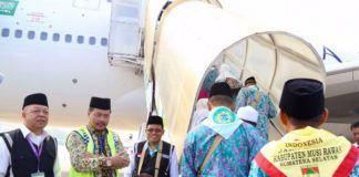 Foto: Kloter terakhir Embarkasi Palembang hari ini, Kamis (24/8) diberangkatkan ke Jeddah.