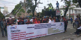 Demo Buruh Medan