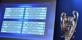 Hasil undian babak playoff Liga Champions 2017--2018 (Foto: Dok. UEFA)