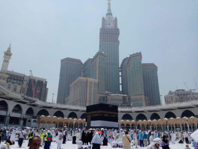 Masjidil Haram relatif lengang pada hari penutupan layanan Bus Shalawat. (foto: istimewa)