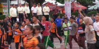 Foto: Sebanyak 6.748 peserta mengikuti perhelatan lomba lari Medan 10 K yang digelar Pemko Medan, Minggu (13/8).