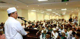 Foto: Menteri Agama Lukman Hakim Saifuddin beri sambutan di hadapan ribuan pengurus KBIH dan TPIHI di Makkah, Rabu (23/8).