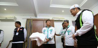 Foto: Kepala Daerah Kerja Makkah Nasrullah Jasam saat meninjau Hotel Casablanka Plaza410 , Sabtu (5/8)