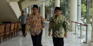 Foto: Menteri Agama RI Lukman Hakim Syaifudin dan Dirjen Bimas Islam Usai Penandatanganan Tanah Hibah untuk DMI.