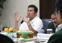 Foto: Menteri PANRB Asman Abnur saat beraudiensi dengan civitas akademikan UIN Alauddin Makassar, Kamis (14/9).