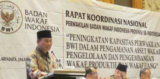 Foto: Badan Wakaf Indonesia (BWI) menggelar Rakornas BWI Provinsi se-Indonesia di Jakarta.