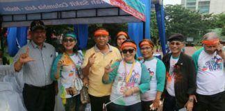 Foto: Wakil Walikota Medan Ir. H. Akhyar Nasution M.Si menghadiri kegiatan Color Run dan senam bersama dalam rangka HUT RS Columbia Asia, di Lapangan Benteng Medan, Sabtu (30/9).