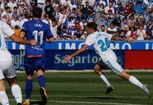 Gelandang Real Madrid, Dani Ceballos usai jebol gawang Deportivo Alaves (Foto: Real Madrid)