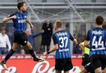 Danilo DAmbrosio (kiri) merayakan golnya ke gawang Genoa (Foto: AFP)