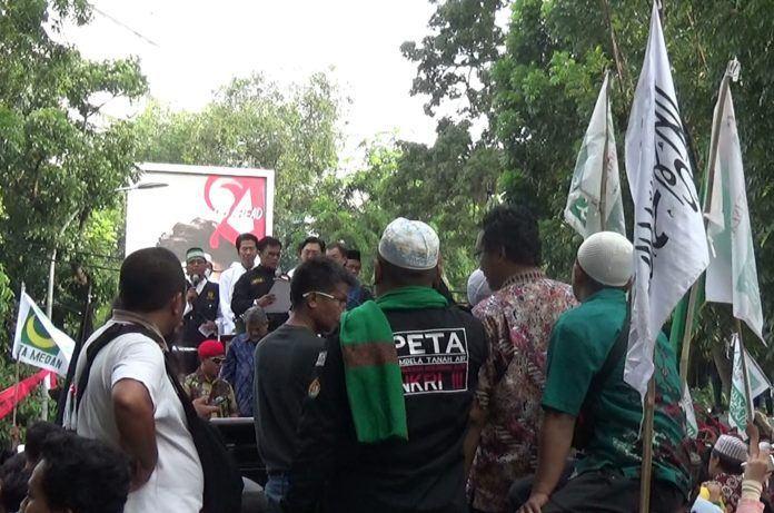 Demo Silidaritas Rohingya Medan