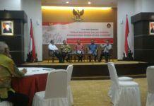 Suasana diskusi Forum Tematik Badan Koordinasi Kehumasan (Bakohumas) di Auditorium Kemenkop UKM, Jakarta, Selasa (5/9) pagi.