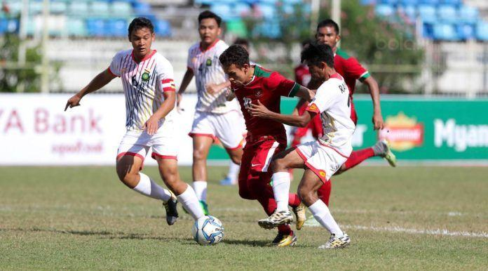 Foto: Pemain Timnas Indonesia U-19, Egy Maulana Vikri, saat pertandingan melawan Brunei Darussalam di Stadion Thuwunna, Rabu, (13/9).