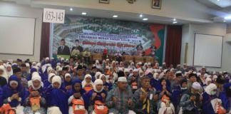 Foto: Jemaah haji Kelompok Terbang (Kloter) 14 Debarkasi Medan tiba di Bandara Kualanamu Delserdang, Kamis (21/9).