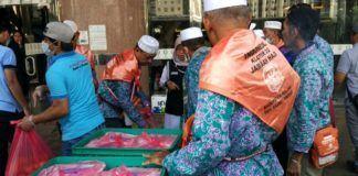 Foto: Layanan katering regular bagi jemaah haji di Makkah.