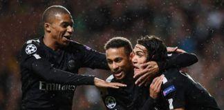 Mbappe, Neymar, dan Cavani. (Foto: AFP/Franck Fife)