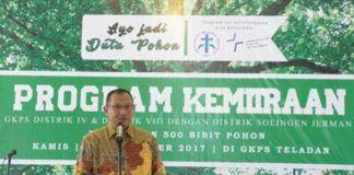 Foto: Wakil Walikota Medan Ir H Akhyar Nasution M.Si saat menghadiri acara yang digelar jemaat Gereja Kristen Protestan Simalungun (GKPS) Teladan Medan di halaman GKPS Teladan, Jalan DR GM Panggabean No. 7 Medan, Kamis (21/9).