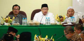 Foto: Menteri Agama Lukman Hakim Saifuddin pimpin rapat evaluasi haji dengan delegasi Amirul Hajj dan PPIH Arab Saudi.