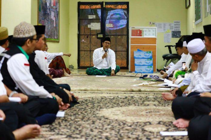 Foto: Menteri Agama Lukman Hakim Saifuddin gelar doa bersama untuk Rohingya di Daker Makkah, Minggu (3/9).