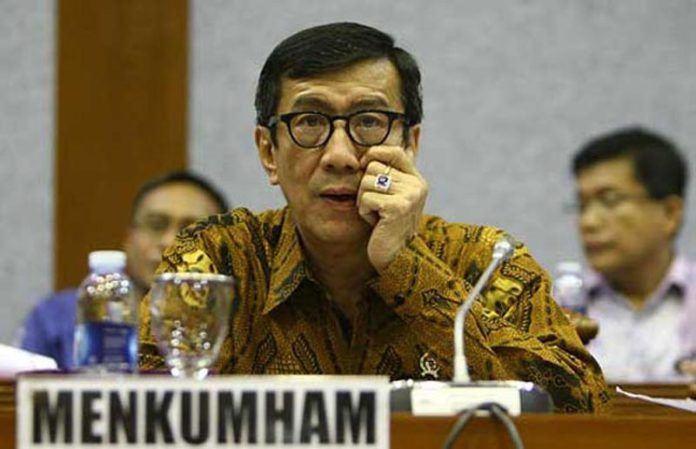 Foto: Menteri Hukum dan Hak Asasi Manusia (Menkumham) Yasonna Laoly.