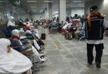 Foto: Proses pemulangan jemaah haji Indonesia.