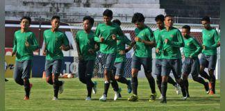 Foto: Skuat Timnas U-19 sedang berlatih.