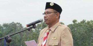 Foto: Wakil Walikota Medan, Ir H Akhyar Nasution MSi saat membuka Orientasi Andalan Teritorial Pengurus Organisasi Kepemudaan Melalui Gerakan Pramuka di Lapangan Cadika Medan, Jumat (6/10).