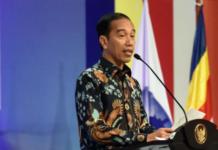 Foto: Presiden Jokowi saat menghadiri Rakernas Walubi, di JI Expo Kemayoran Jakarta, Kamis (26/10).